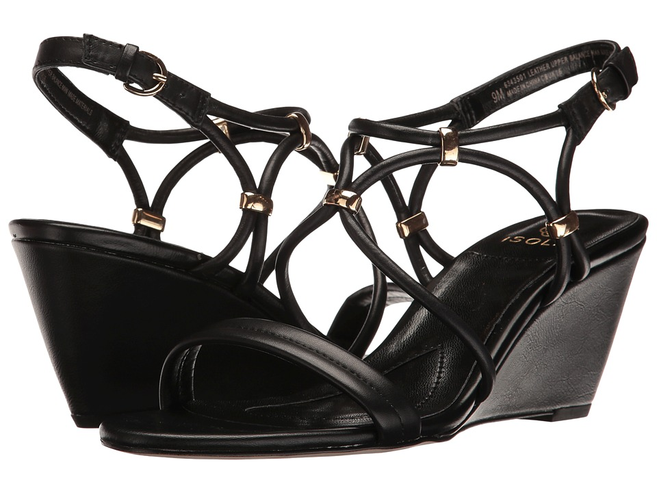 Isola - Farrah (Black Cow Quilin) Women's Sandals