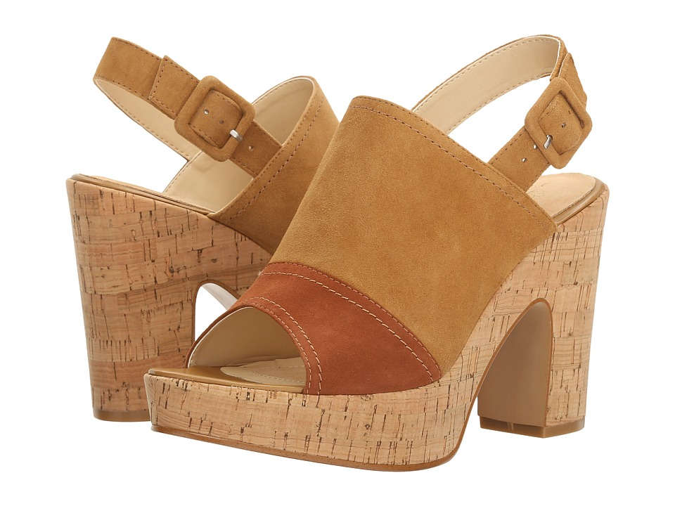 Isola - Gabriela (Golden Tan/Tobacco King Suede) High Heels