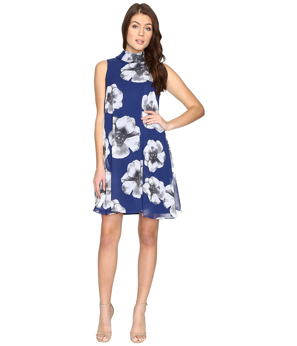 Christin Michaels Cabriole Floral Dress (Royal/White) Women