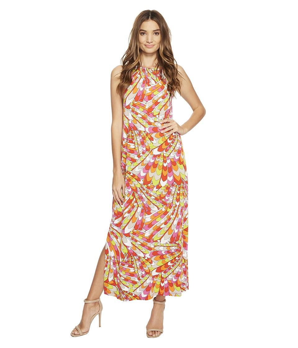 Christin Michaels - Bors Printed Maxi Dress (Red/Orange) Women's Dress