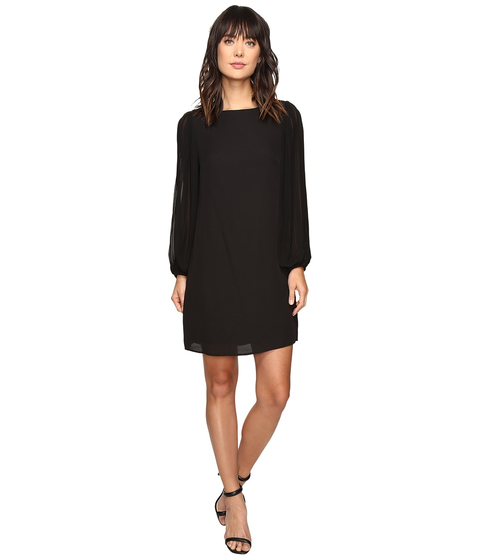Christin Michaels - Orpington Pleated Sleeve Dress (Black) Women's Dress