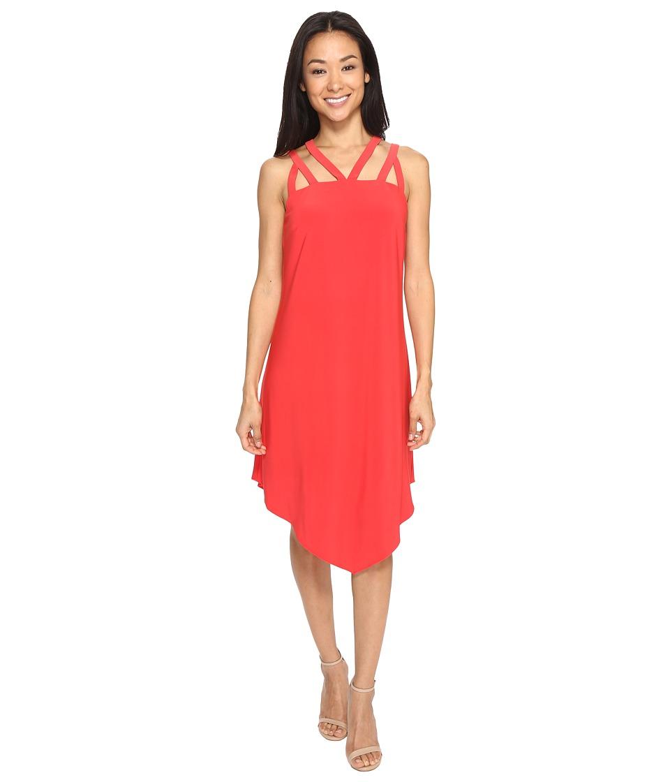Christin Michaels - Lamorack Cross Strap Dress (N. Winter Coral) Women's Dress
