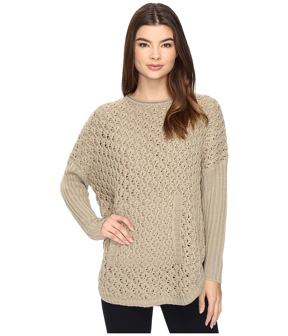 Brigitte Bailey - Rift Valley Poncho (Taupe) Women's Clothing