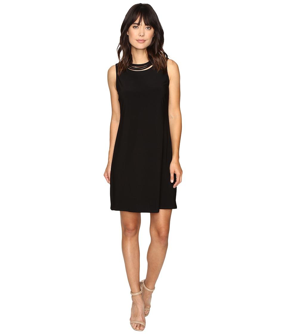 Christin Michaels Bedivere Sleeveless Dress (Black) Women