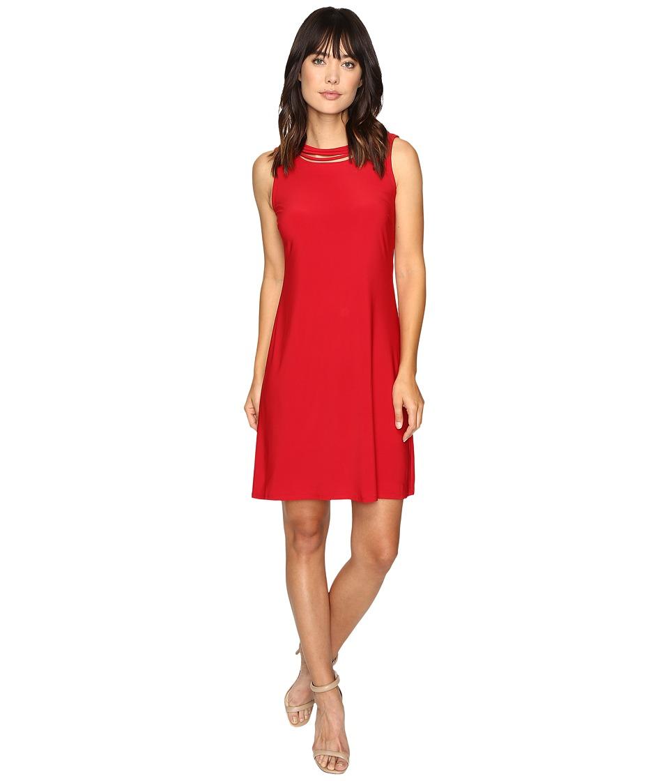 Christin Michaels Bedivere Sleeveless Dress (Red) Women