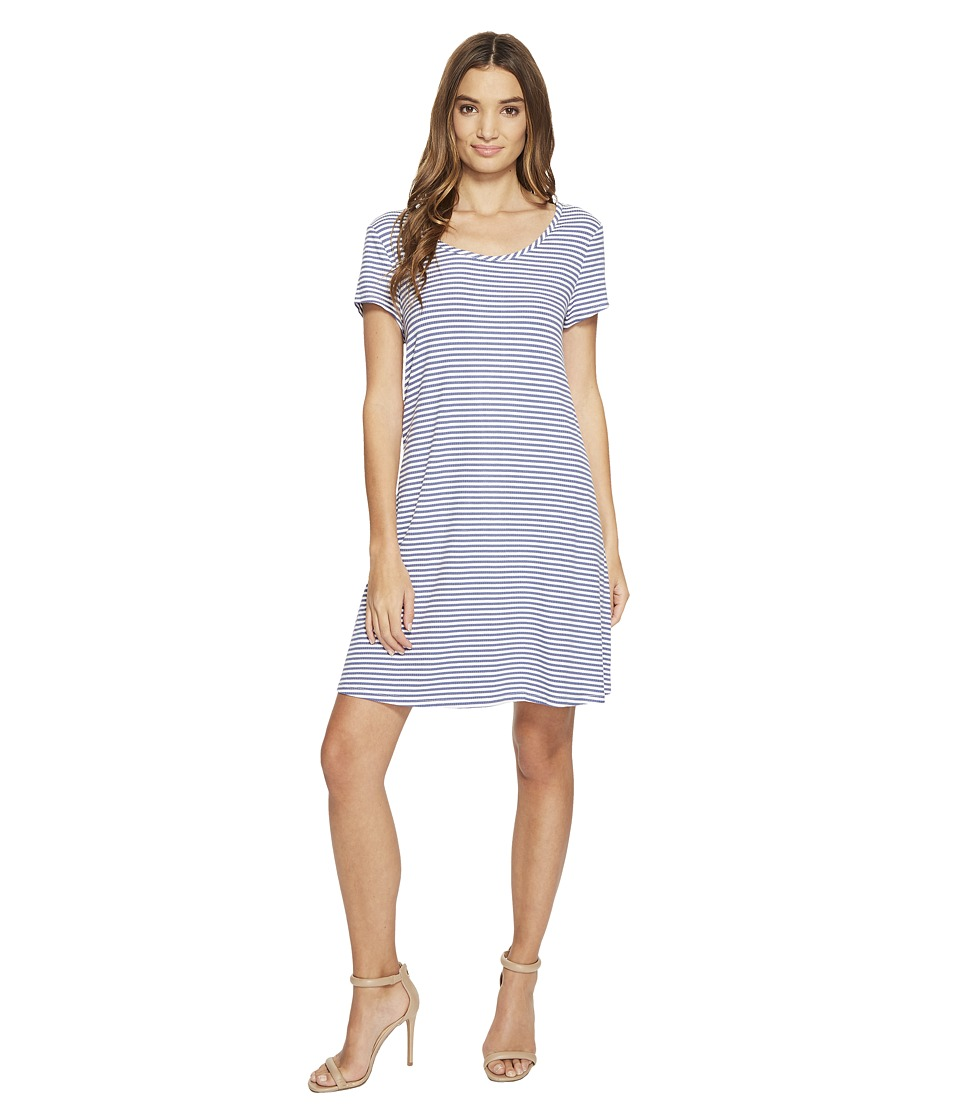 Christin Michaels - Victoria Striped Dress (Grey/Ivory) Women's Dress