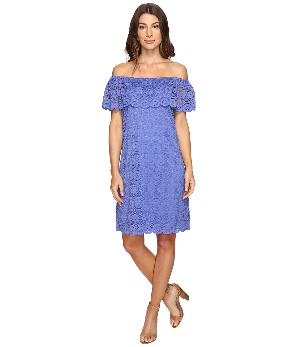 Christin Michaels Erie Lace Dress (Perrywinkle) Women