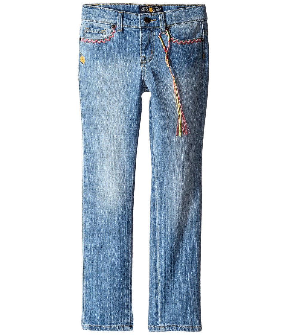 Lucky Brand Kids Zoe Jeans w/ Embroidery (Little Kids) (Monterey Wash) Girl
