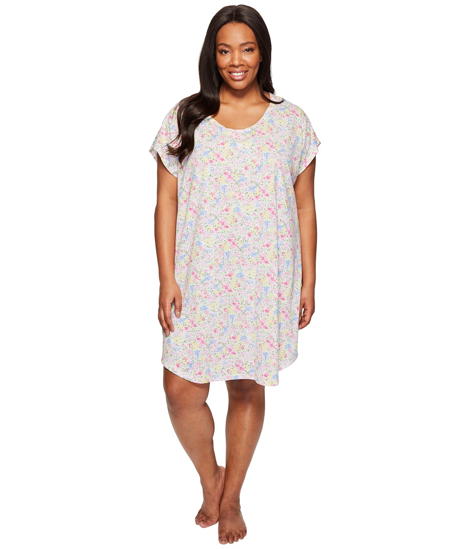 LAUREN Ralph Lauren - Plus Size Short Sleeve Sleep Tee (Multi Floral) Women's Pajama
