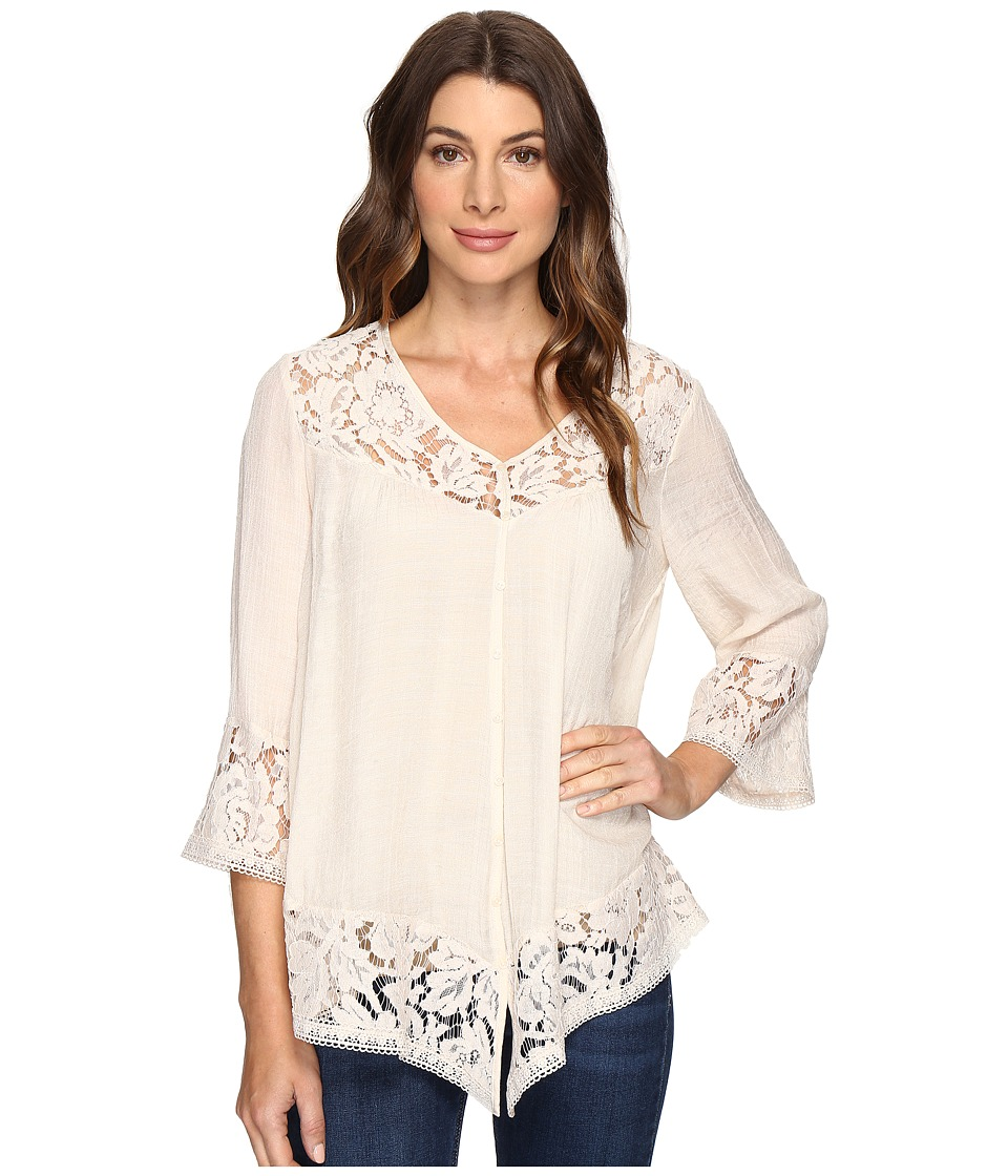 Brigitte Bailey - Fennec Lace Top (Light Stone) Women's Clothing