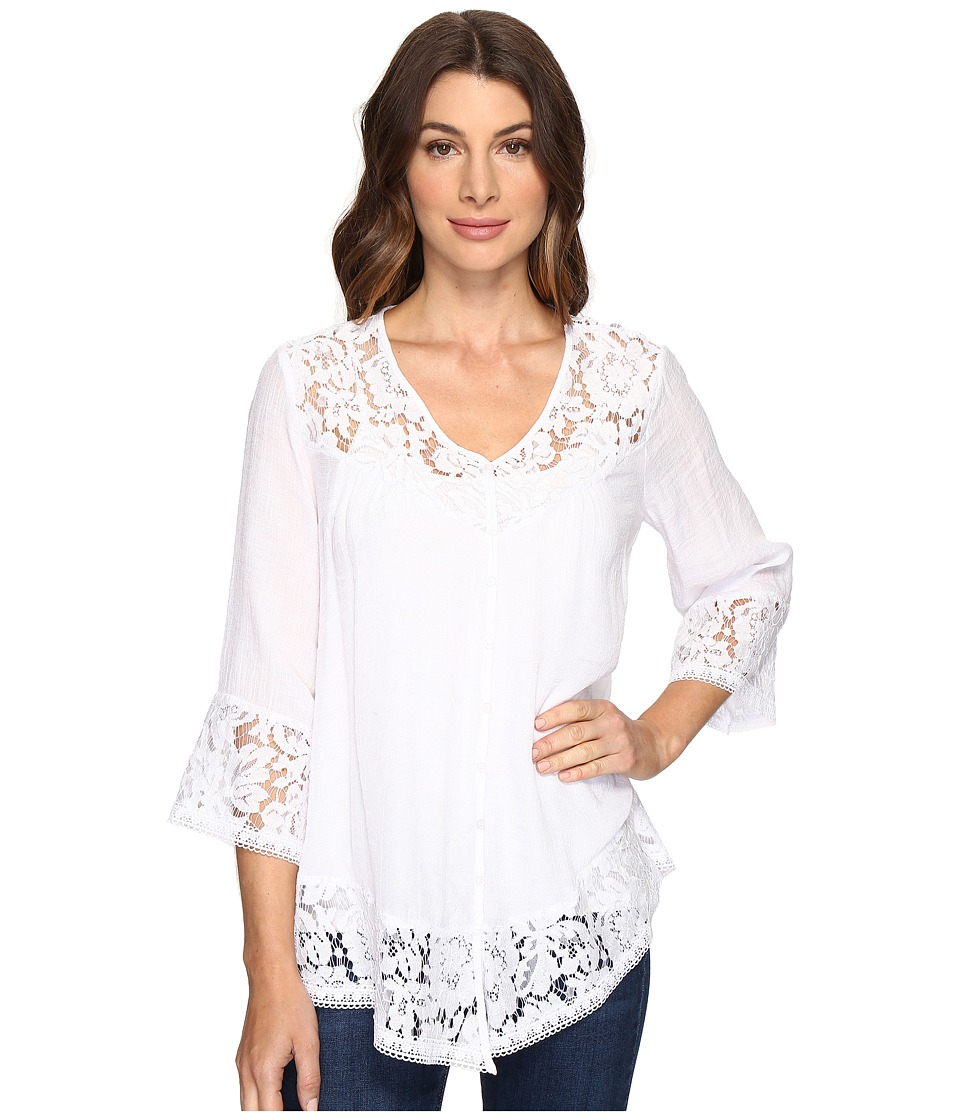 Brigitte Bailey - Fennec Lace Top (Pale Blush) Women's Clothing