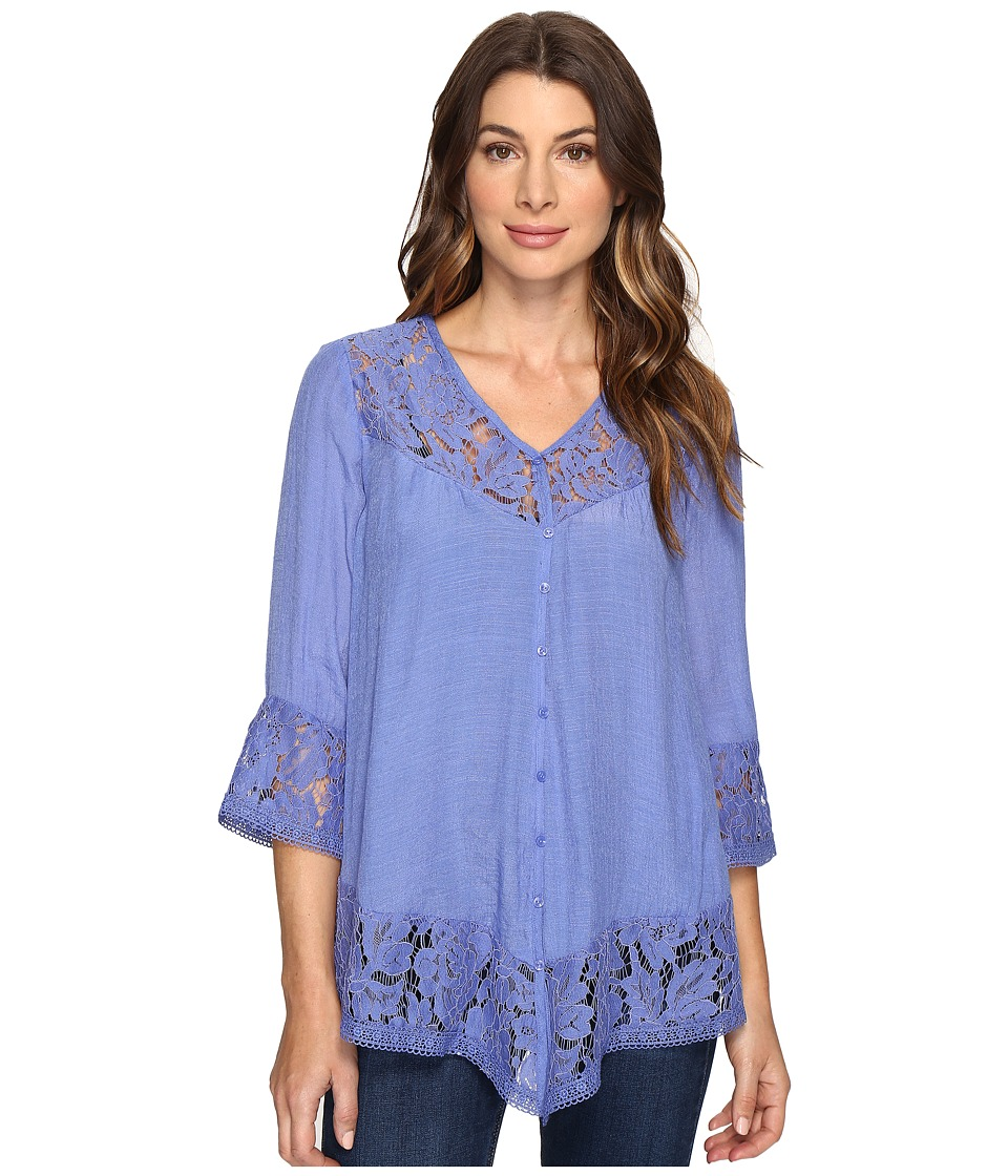 Brigitte Bailey - Fennec Lace Top (New Navy) Women's Clothing