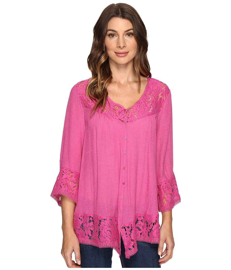 Brigitte Bailey - Fennec Lace Top (Rose Red) Women's Clothing
