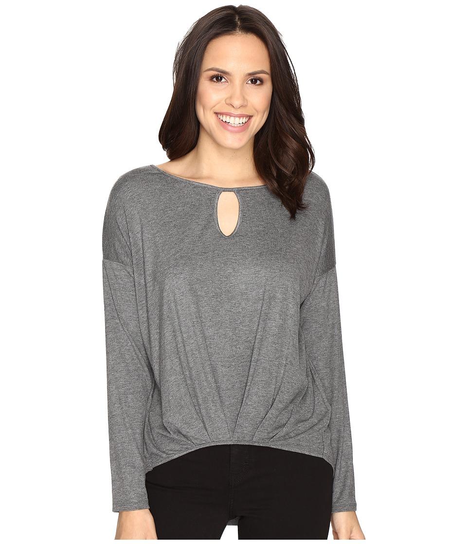 Christin Michaels - Kettle Lake Top (Charcoal Grey) Women's Clothing