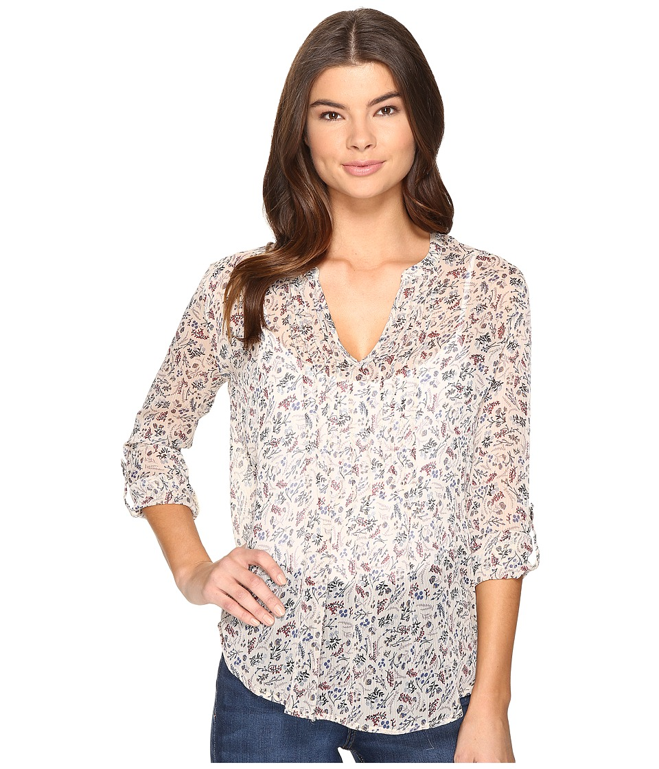 Christin Michaels - Landslip Top (White Floral) Women's Clothing