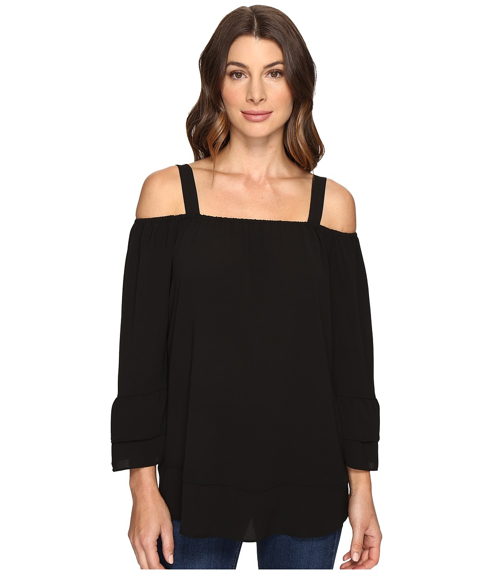 Brigitte Bailey - Samson Color Blocked Top (Black) Women's Clothing