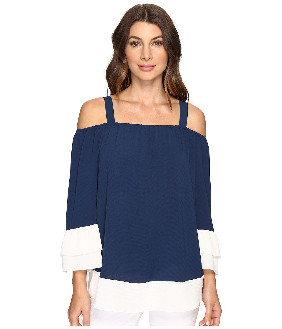 Brigitte Bailey - Samson Color Blocked Top (Navy/Sugar) Women's Clothing