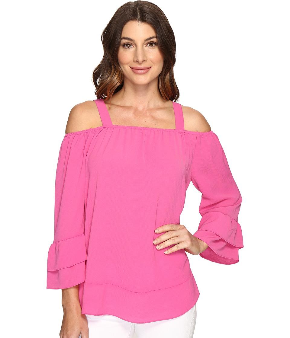 Brigitte Bailey - Samson Color Blocked Top (Raspberry Rose) Women's Clothing