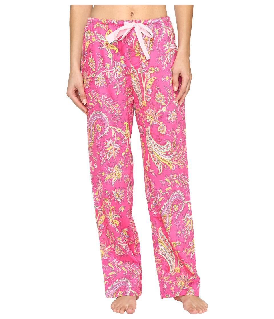 LAUREN Ralph Lauren - Sateen Long Pants (Pink Multi Paisley) Women's Pajama