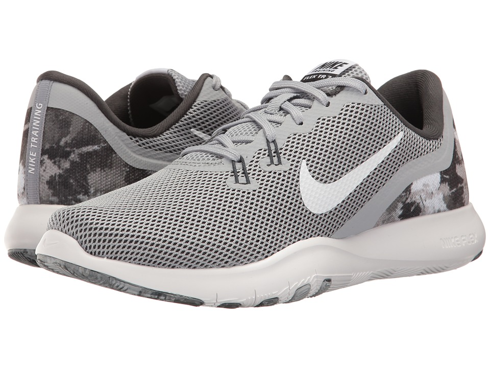 Nike - Flex Trainer 7 Print (Wolf Grey/White/Anthracite/Cool Grey) Women's Cross Training Shoes