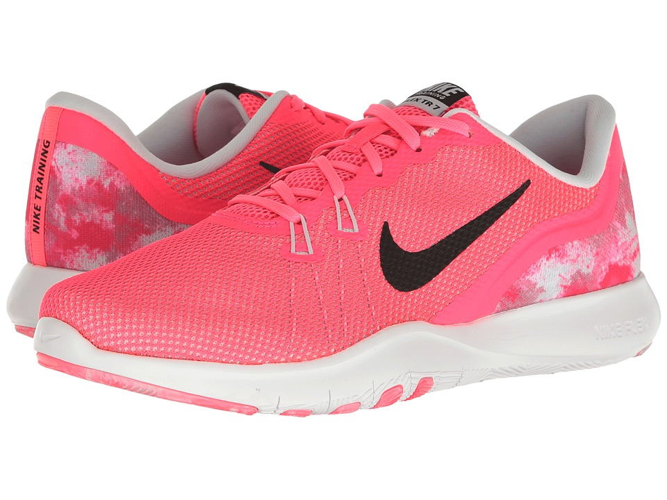 Nike - Flex Trainer 7 Print (Racer Pink/Black/Pure Platinum/Wolf Grey) Women's Cross Training Shoes