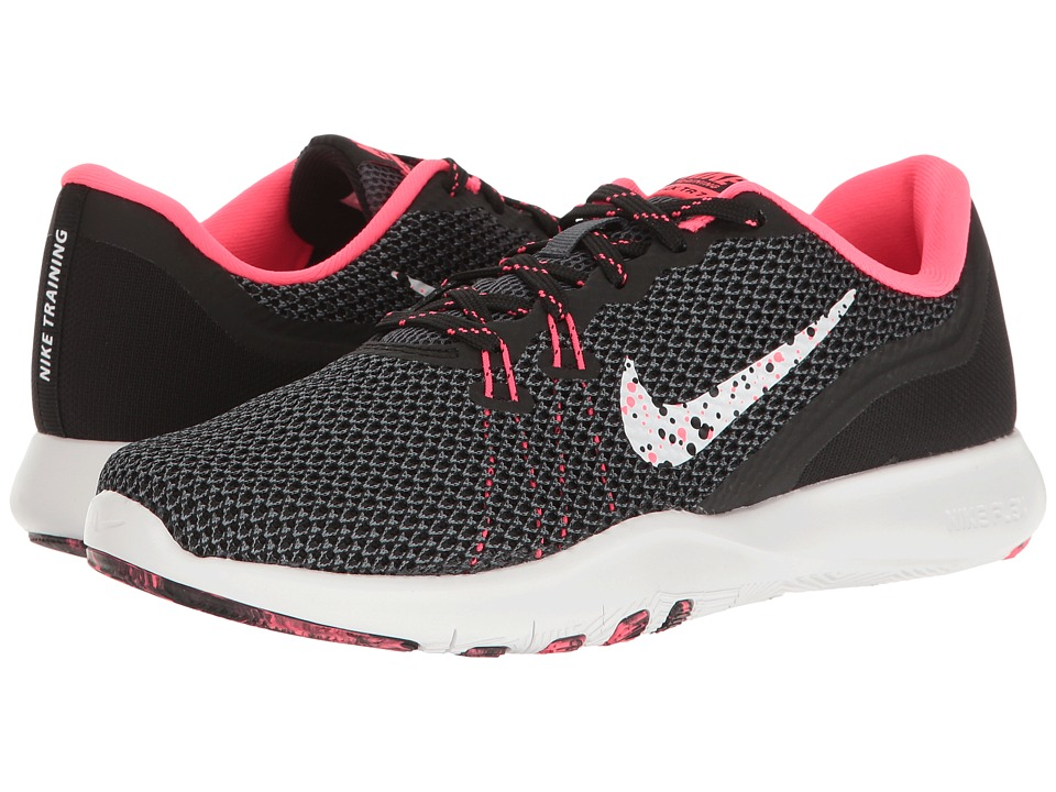 Nike - Flex Trainer 7 BTS (Black/White/Racer Pink/Dark Grey) Women's Cross Training Shoes