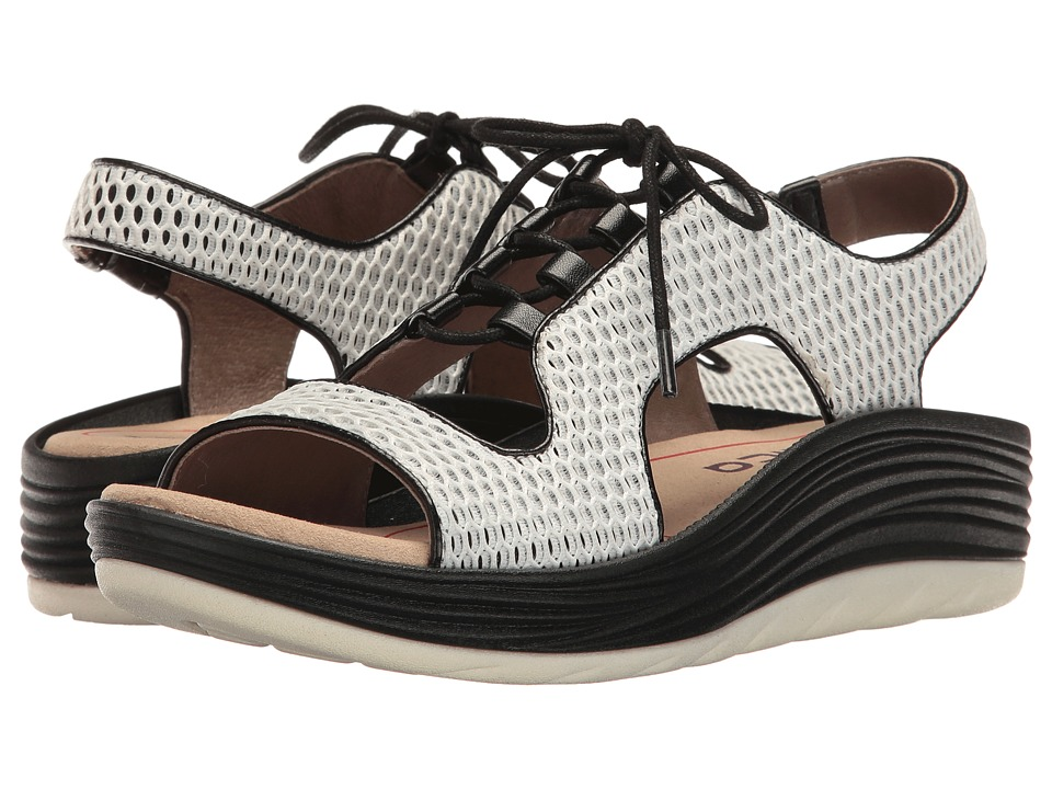 Bionica - Cosmic (White/Black) Women's Sandals