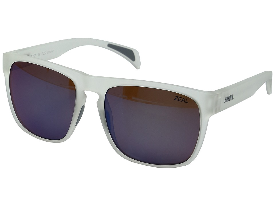 Zeal Optics - Capitol (Matte Crystal w/ Horizon Blue Lens) Sport Sunglasses