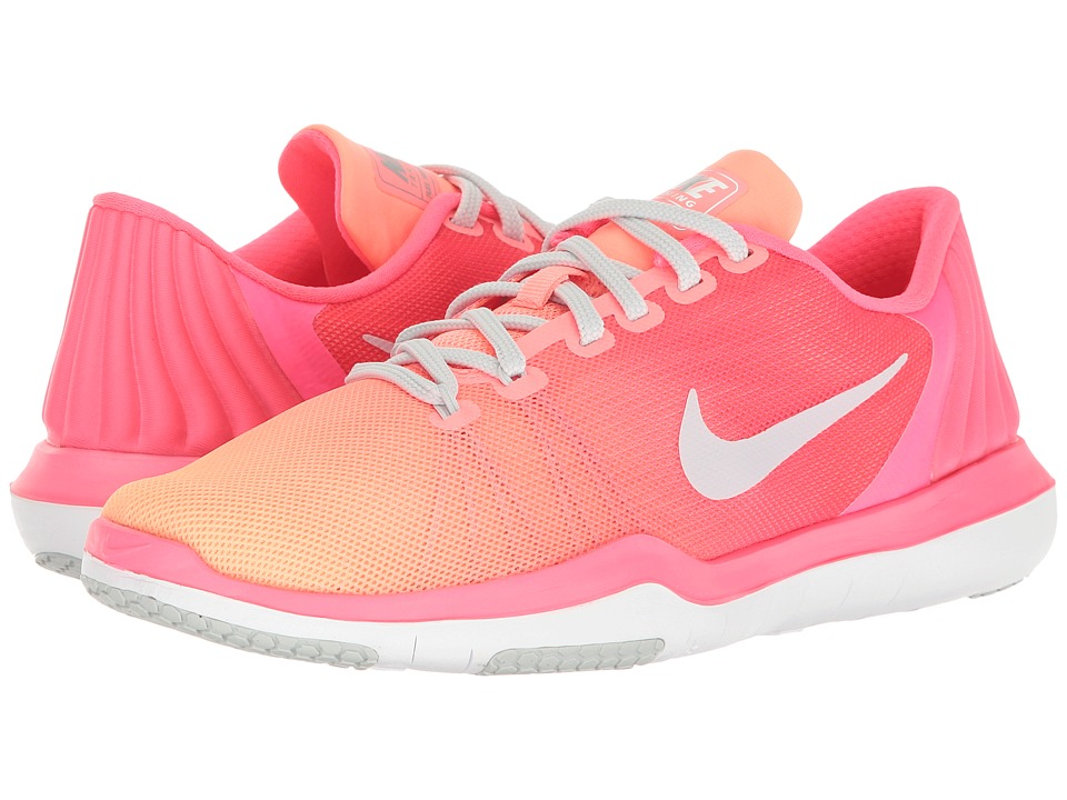Nike - Flex Supreme TR 5 Training Shoe (Racer Pink/Pure Platinum/Sunset Glow) Women's Cross Training Shoes