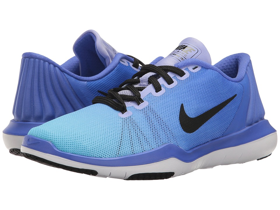 Nike - Flex Supreme TR 5 Training Shoe (Medium Blue/Black/Still Blue) Women's Cross Training Shoes