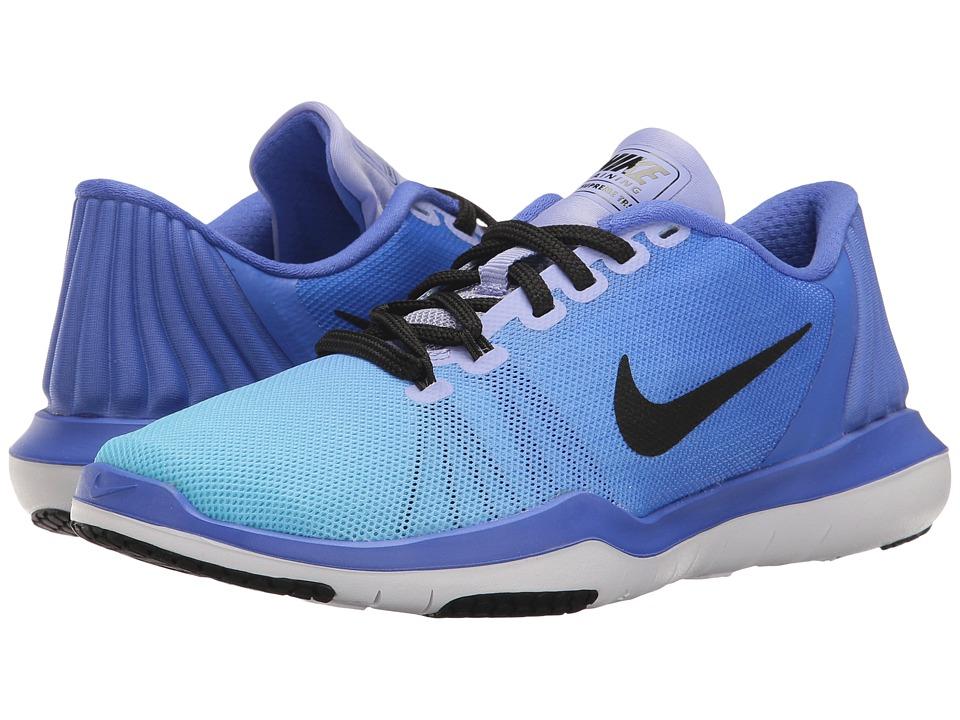 Nike - Flex Supreme TR 5 Training Shoe (Medium Blue/Black/Still Blue) Women's Cross Training Shoes