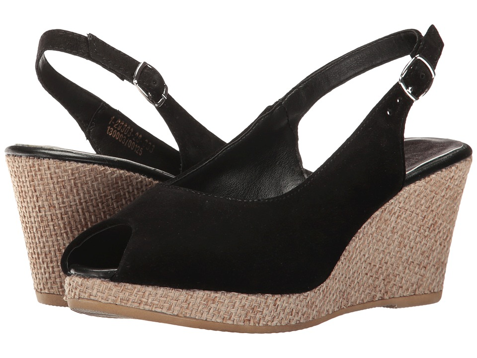 Tamaris - Giove 1-29303-28 (Black/Rope) Women's Shoes