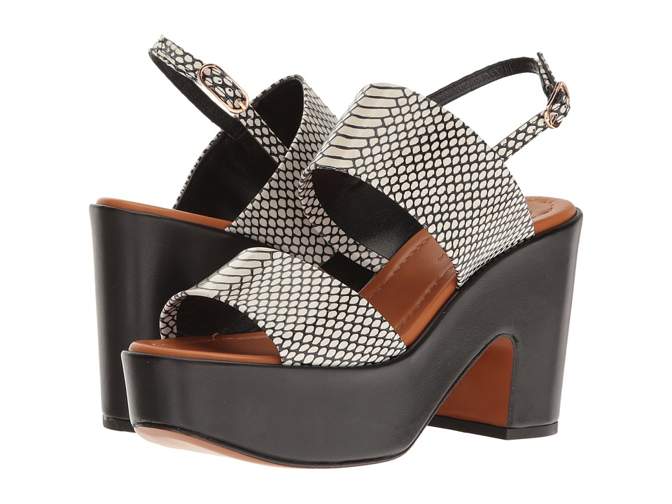 Robert Clergerie - Emple (Black/White Exotic) Women's Shoes