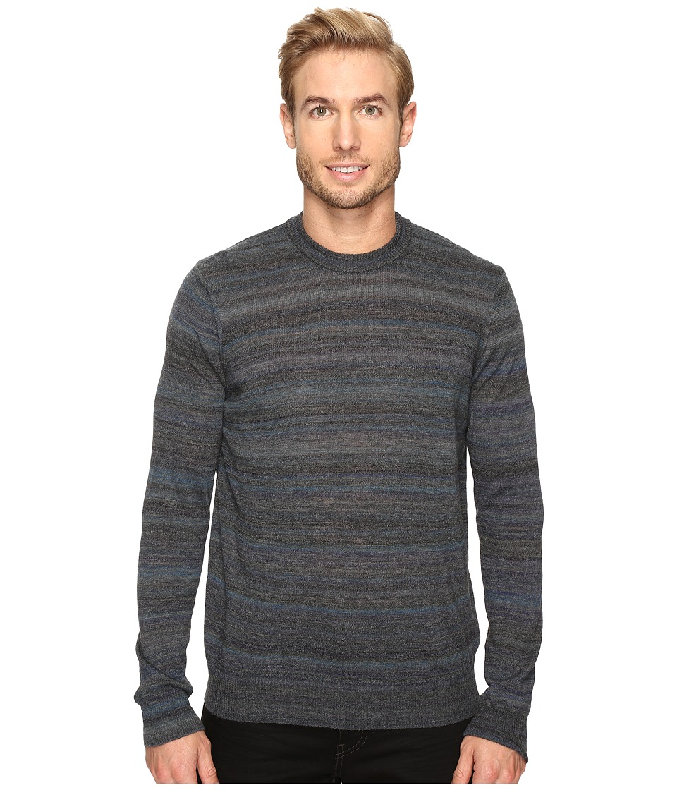 Thomas Dean & Co. - Faded Stripe Merino Blend Crew Sweater (Blue) Men's Sweater