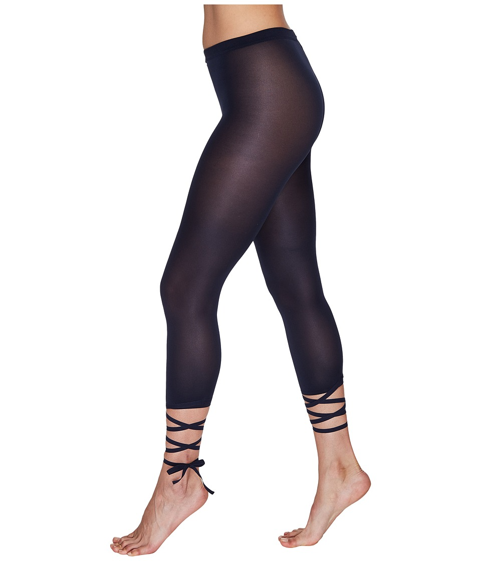 Wolford - Lace-Up Capris (Midnight) Women's Capri