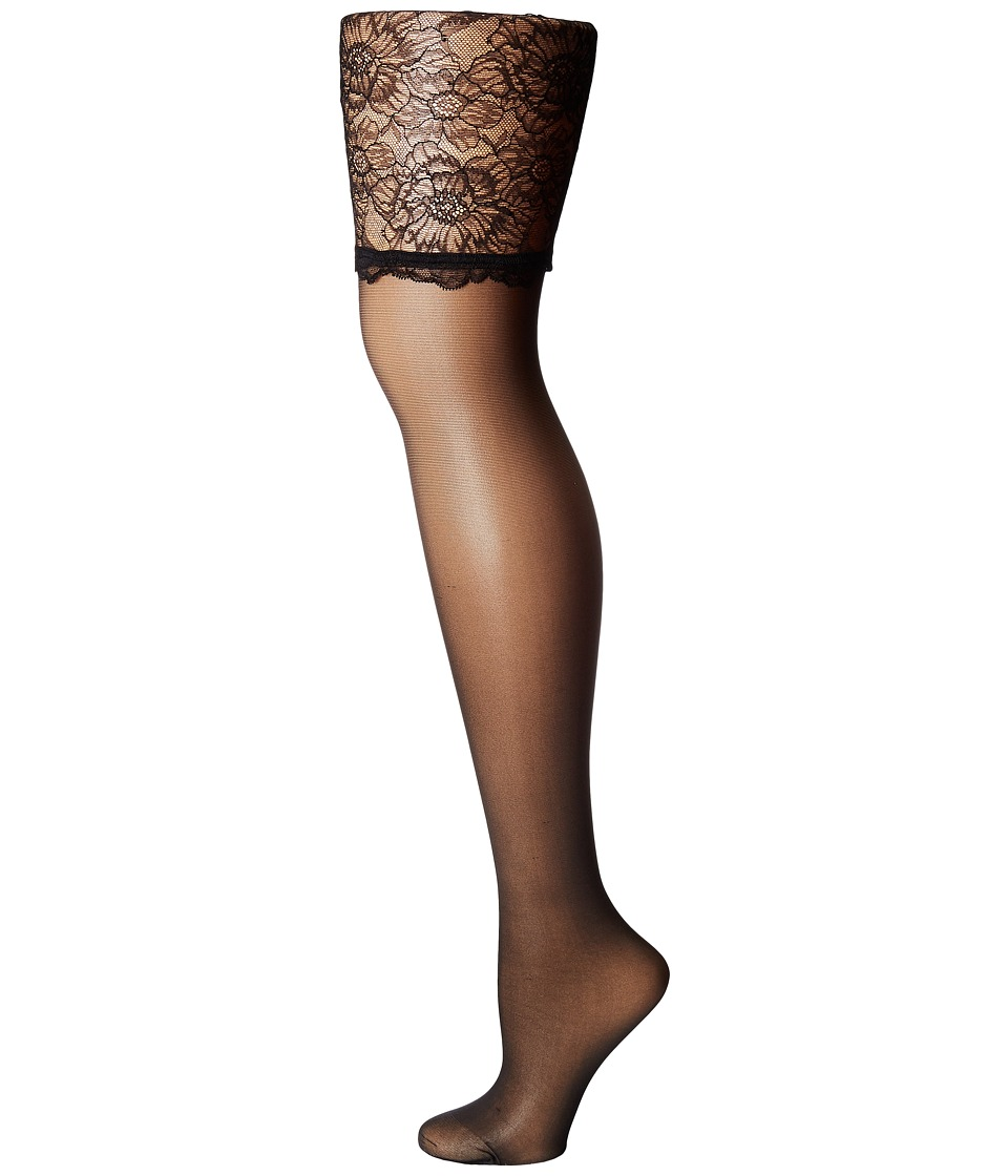 Wolford - Lace Stockings (Black/Black) Women's Lingerie