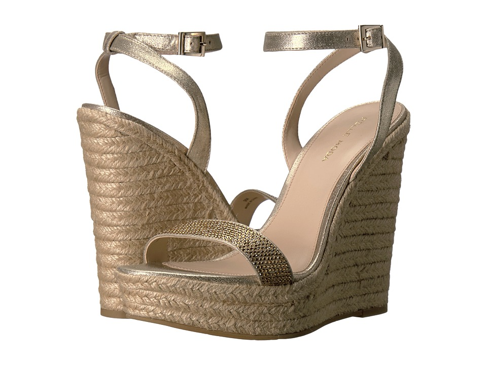 Pelle Moda Only (Platinum Gold Metallic Suede) Women