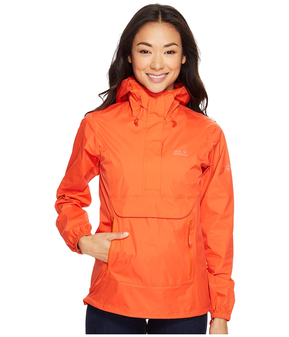 Jack Wolfskin - Cloudburst Smock (Lobster Red) Women's Clothing