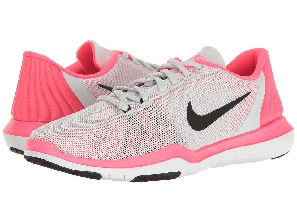 Nike - Flex Supreme TR 5 (Pure Platinum/Black/Racer Pink/Wolf Grey) Women's Cross Training Shoes