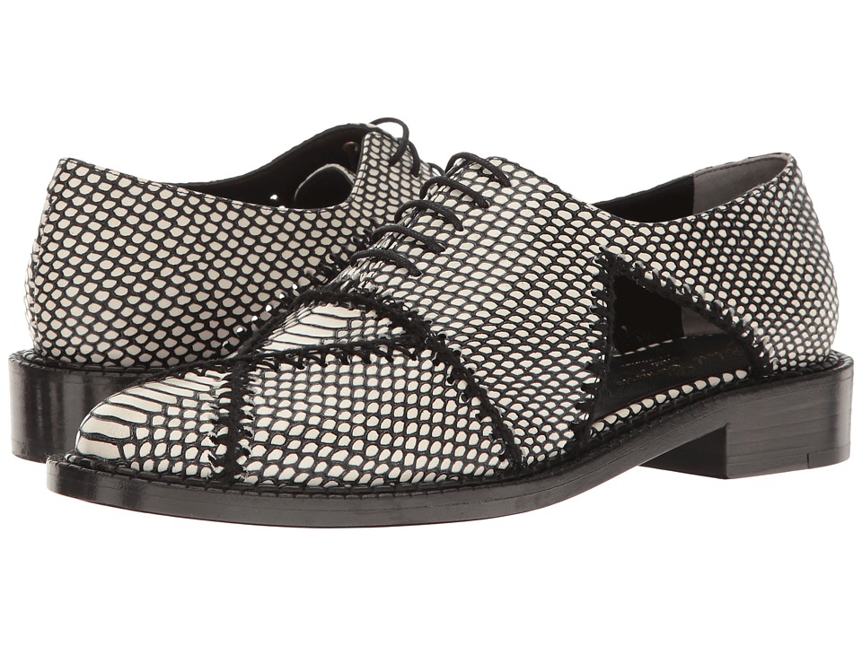 Robert Clergerie - Jofre (Black/White Exotic) Women's Shoes