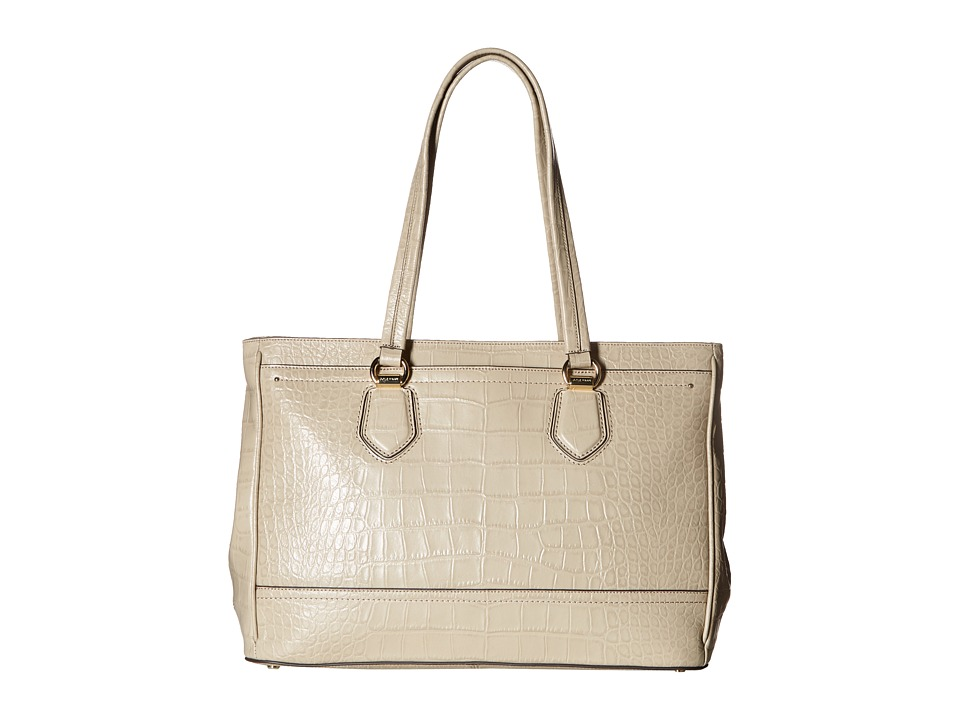 Cole Haan - Tali Double Zip Work Tote (Taupe Croc Embossed) Tote Handbags