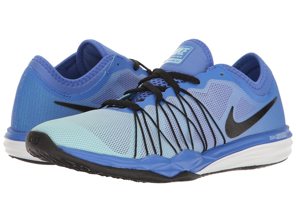 Nike - Dual Fusion TR Hit Training (Medium Blue/Black/Still Blue/White) Women's Cross Training Shoes
