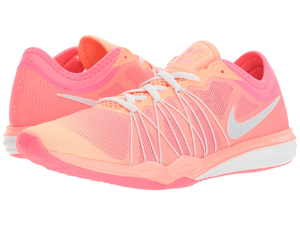Nike - Dual Fusion TR Hit Training (Racer Pink/Pure Platinum/Sunset Glow) Women's Cross Training Shoes