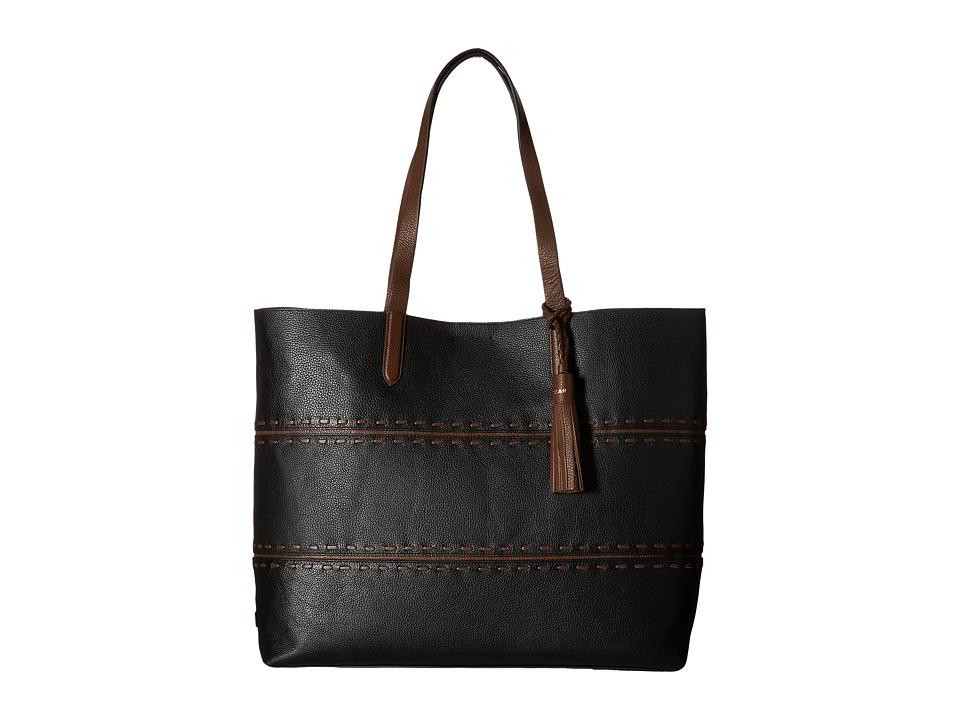 Cole Haan - Pinch Lacing Tote (Black/Chestnut) Tote Handbags