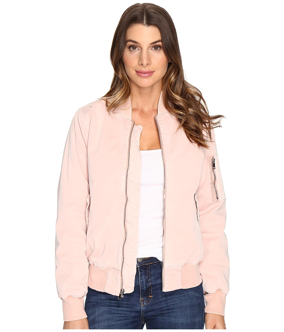 Hudson - Gene Puffy Bomber Jacket in Sunkissed Pink Destructed (Sunkissed Pink Destructed) Women's Coat