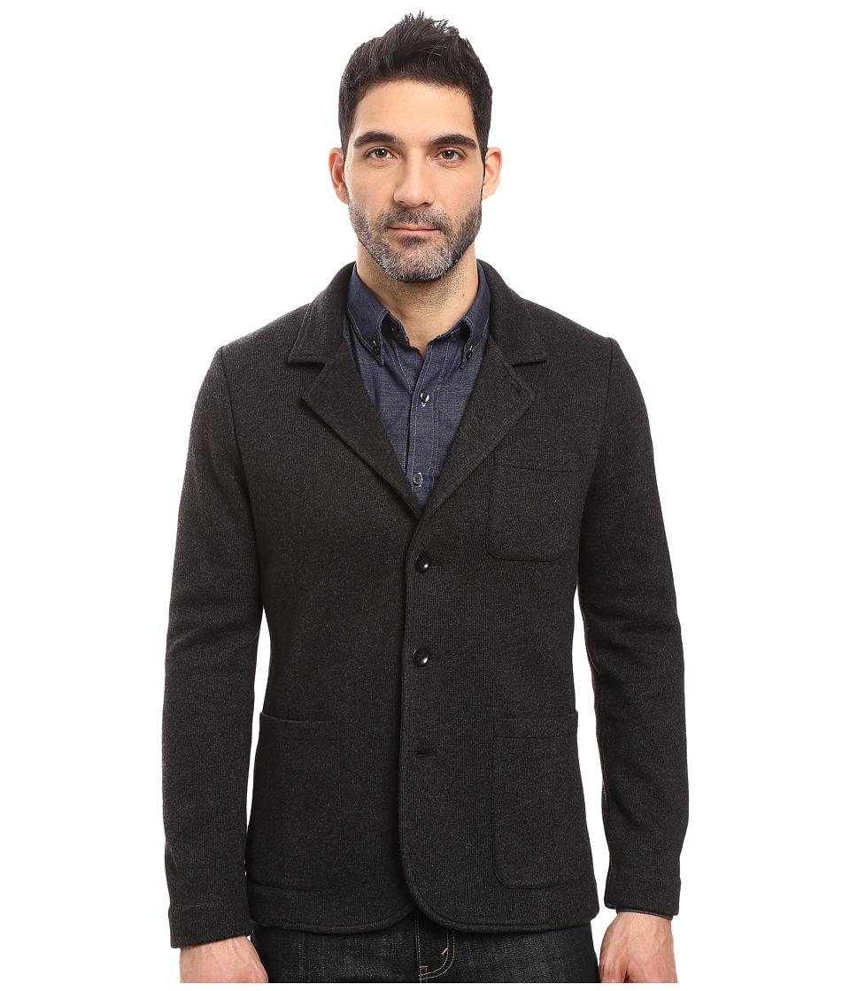 AG Adriano Goldschmied - Miles Sweater Blazer (Heather Black) Men's Jacket