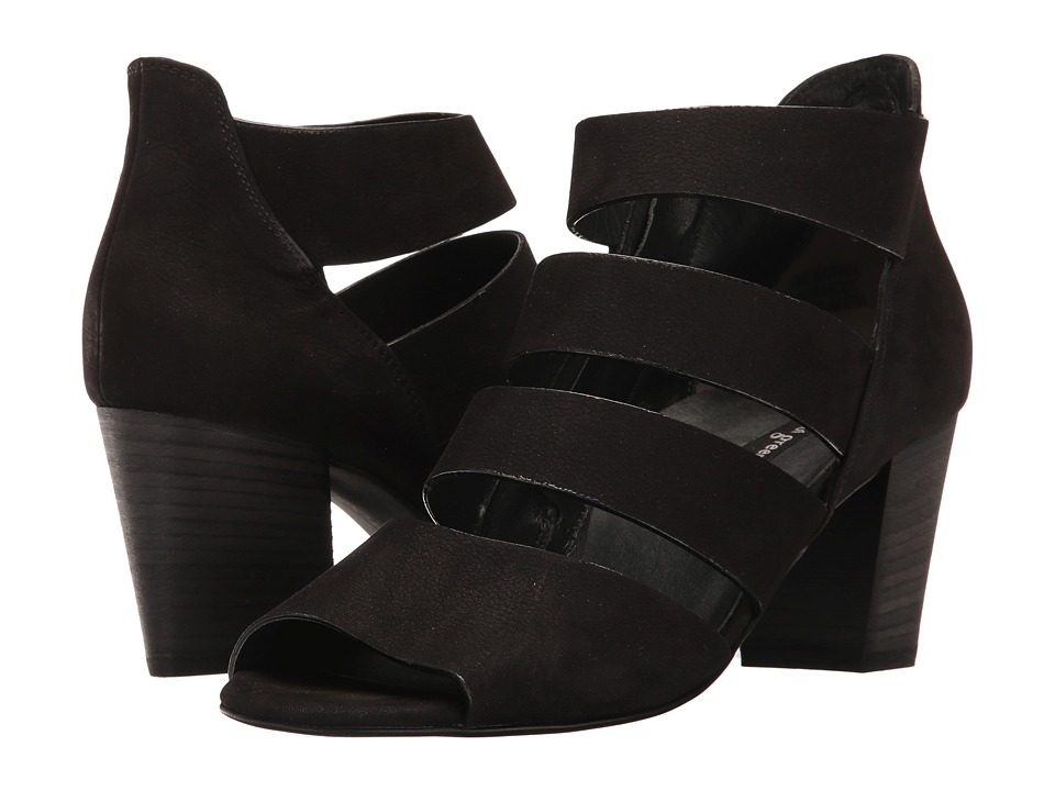 Paul Green - Michele Heel (Black Sport Nubuck) Women's Shoes