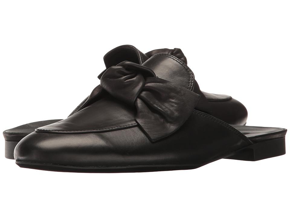 Paul Green Mary Slide (Black Leather) Women