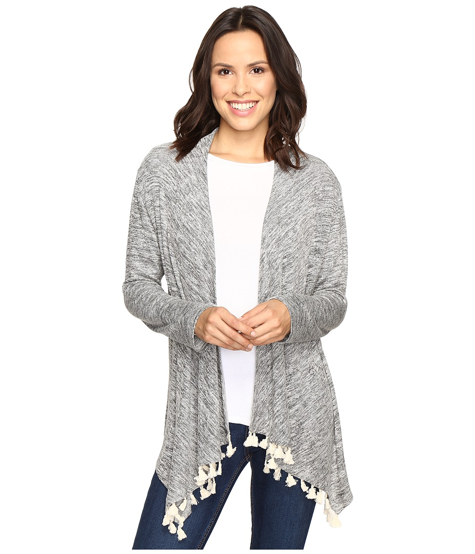 Rock and Roll Cowgirl - Long Sleeve Cardigan 46-9594 (Grey) Women's Sweater
