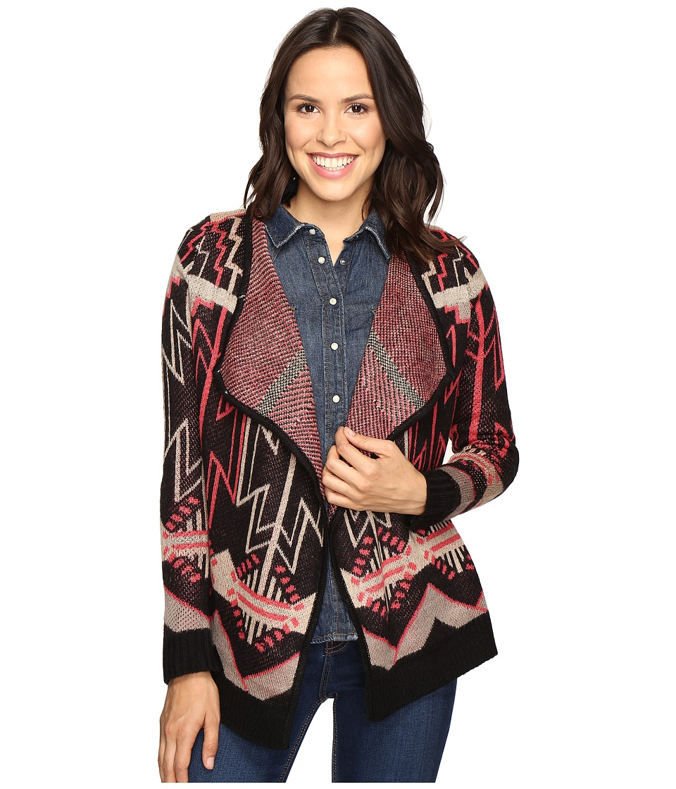 Rock and Roll Cowgirl - Cardigan 46-9599 (Black) Women's Sweater